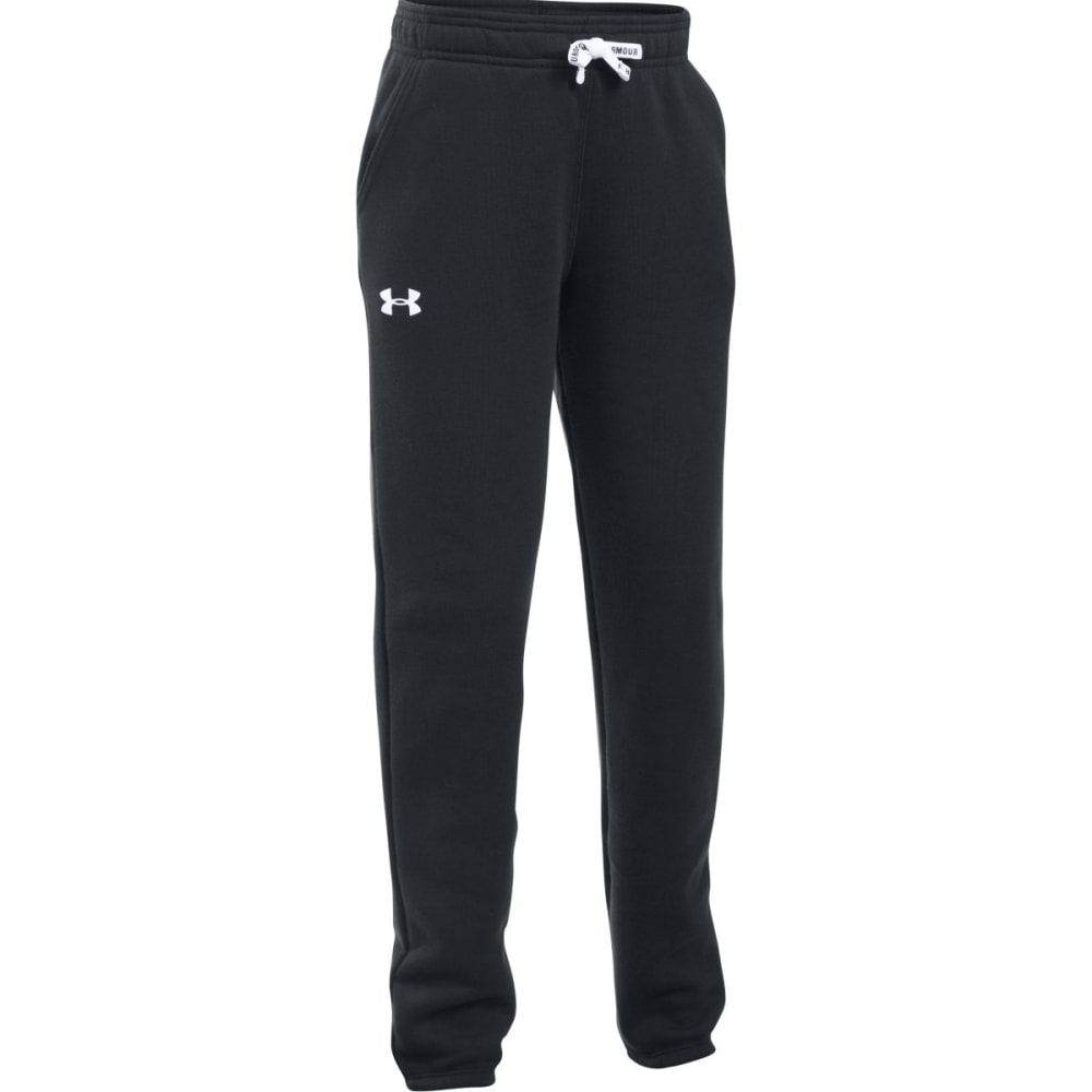 UNDER ARMOUR Girls' Favorite Fleece Jogger Pants - BLACK-001
