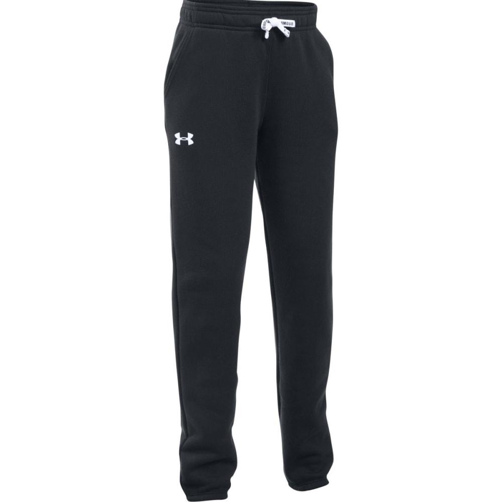 UNDER ARMOUR Girls' Favorite Fleece Jogger Pants - BLACK-001