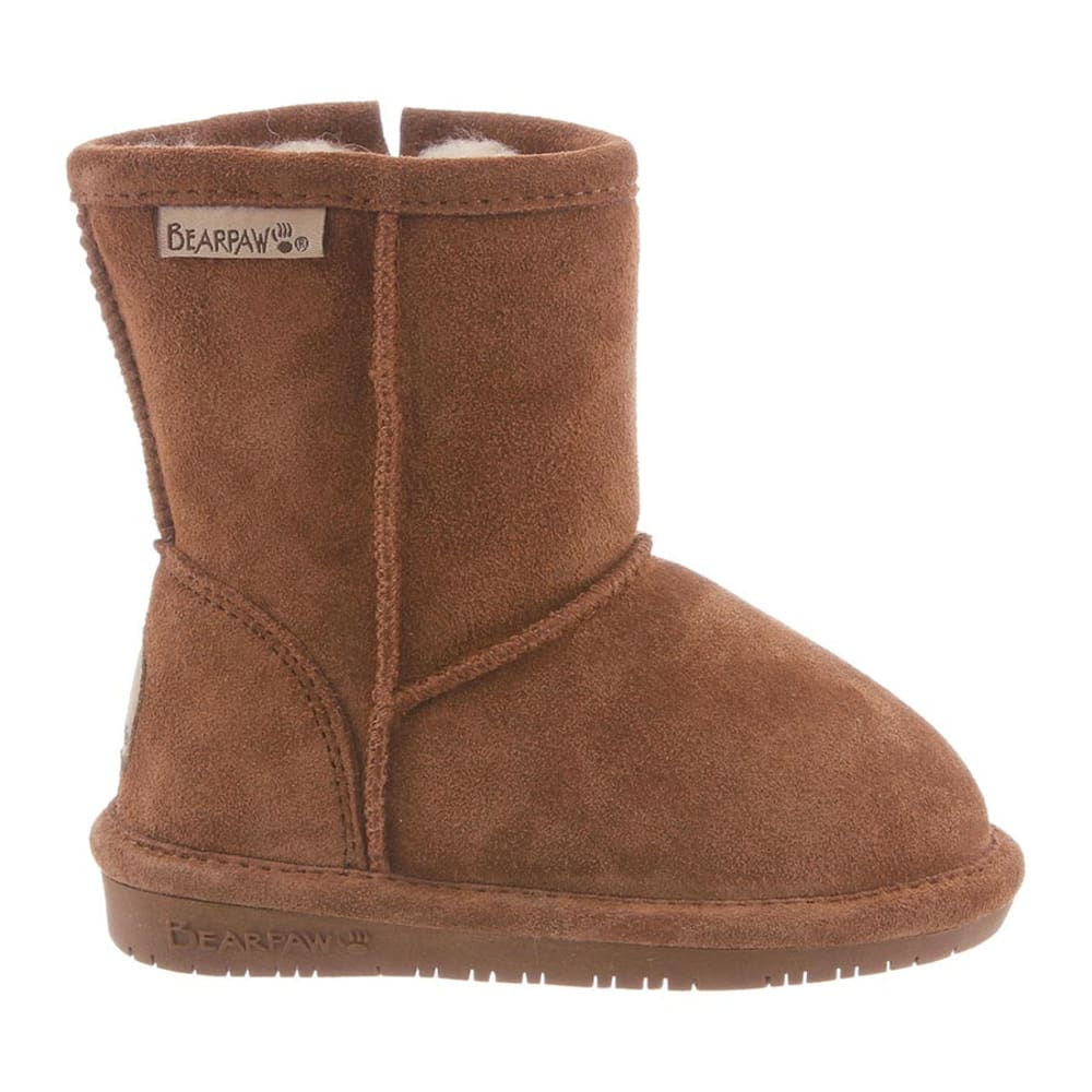 BEARPAW Toddler Girls' Emma Zipper Boots - HICKORY