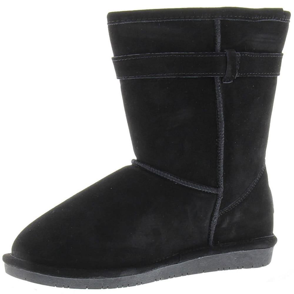 BEARPAW Girls' Val Boots - BLACK