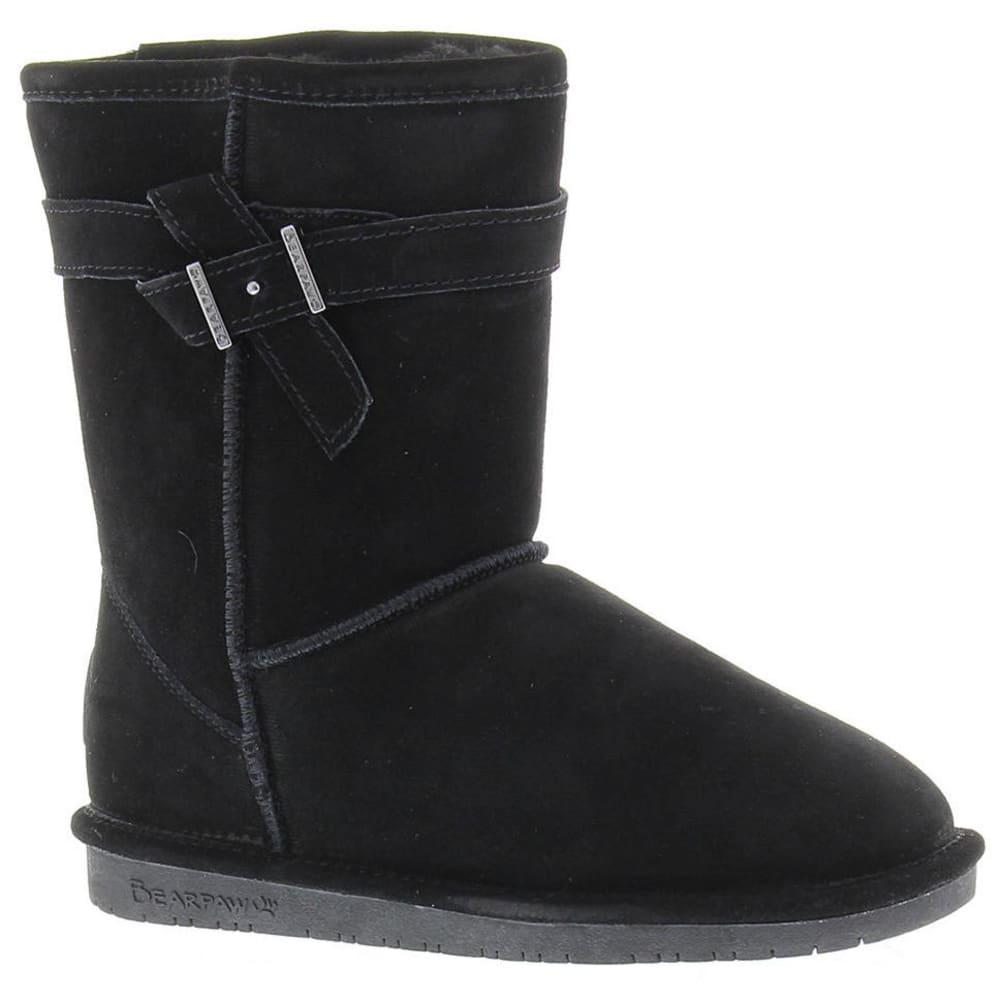 Bearpaw Girls' Val Boots - Black, 13