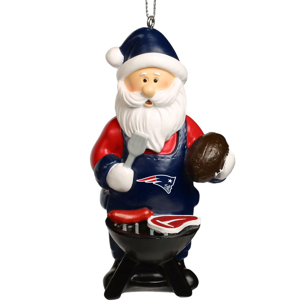 NEW ENGLAND PATRIOTS Grilling Santa Ornament - MULTI