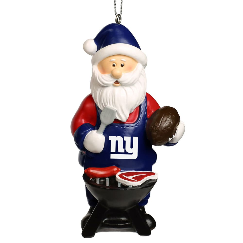 NEW YORK GIANTS Grilling Santa Ornament - MULTI