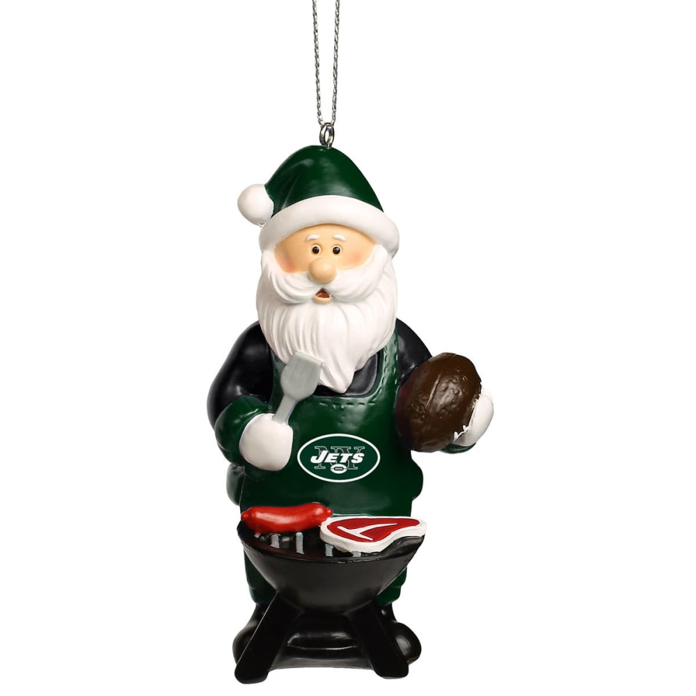 NEW YORK JETS Grilling Santa Ornament - MULTI