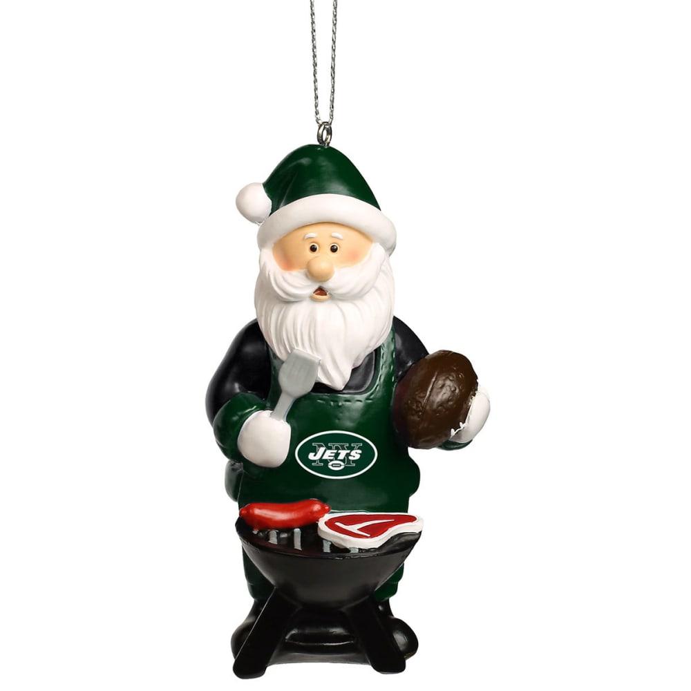 NEW YORK JETS Grilling Santa Ornament - MULTI