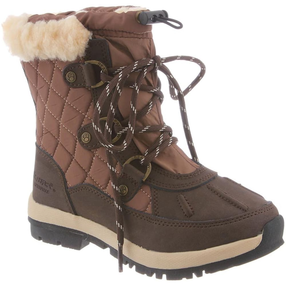 BEARPAW Girls' Bethany Boots - CHOCOLATE