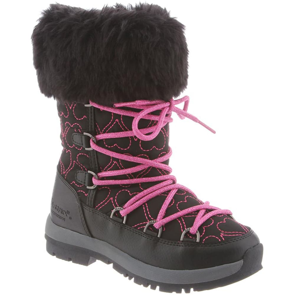 BEARPAW Girls' Meredith Boots - BLACK