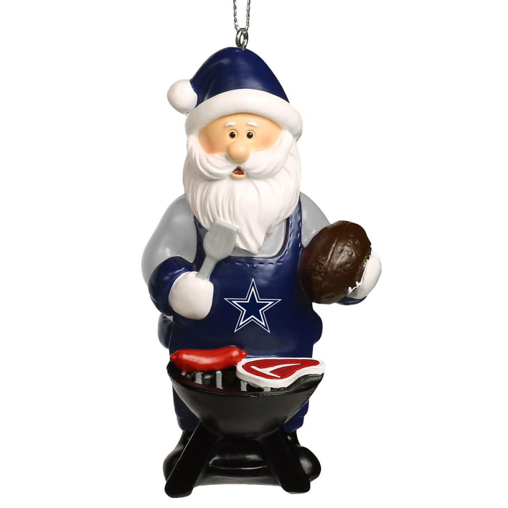 DALLAS COWBOYS Grilling Santa Ornament - MULTI