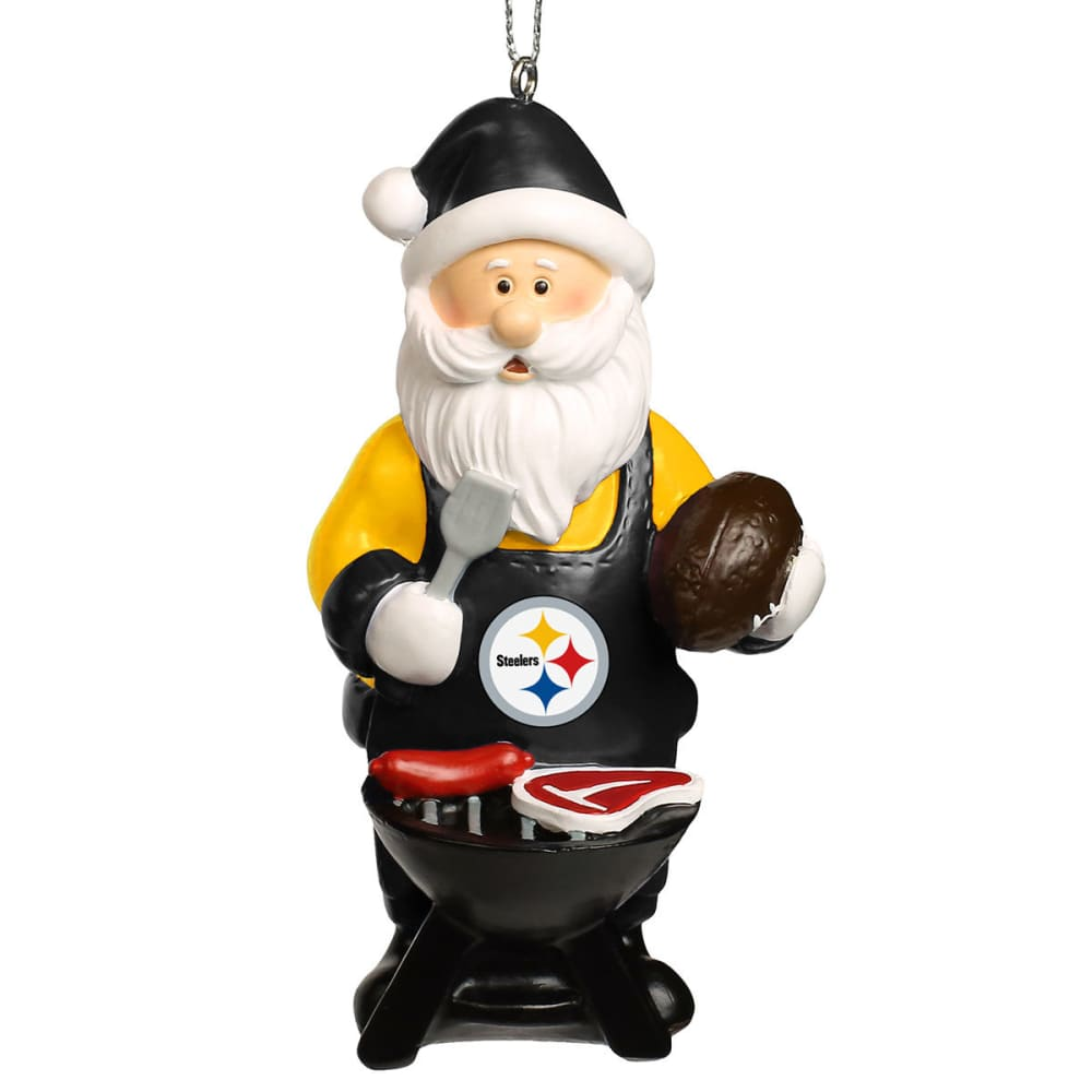 PITTSBURGH STEELERS Grilling Santa Ornament - MULTI