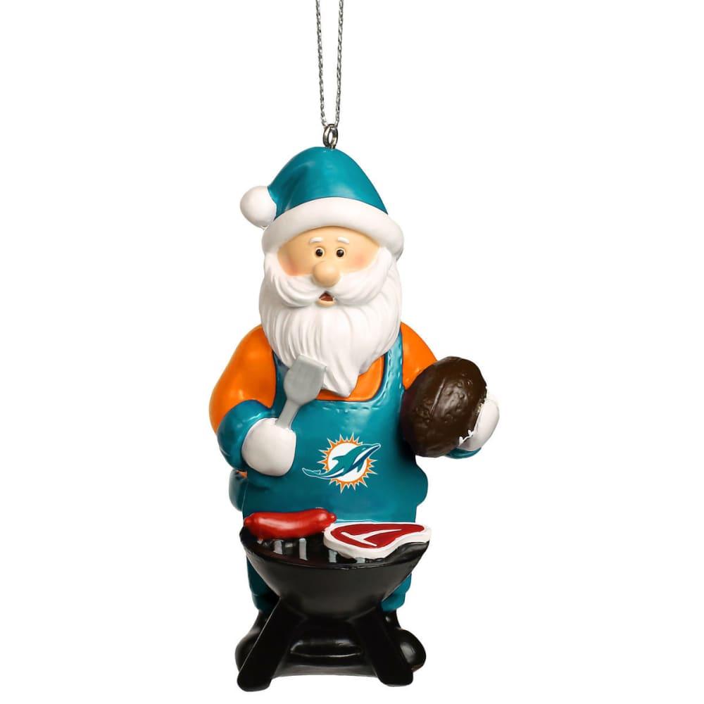 MIAMI DOLPHINS Grilling Santa Ornament - MULTI