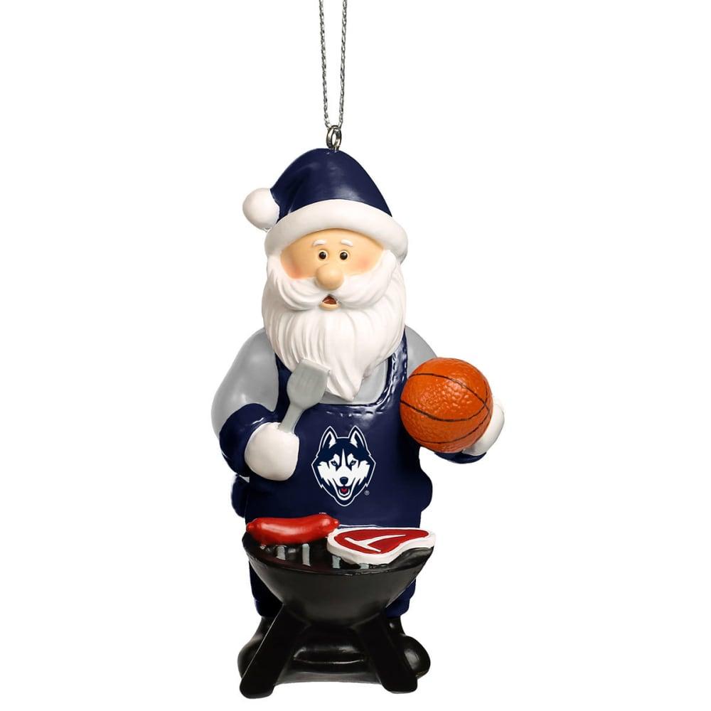 UCONN Grilling Santa Ornament - MULTI