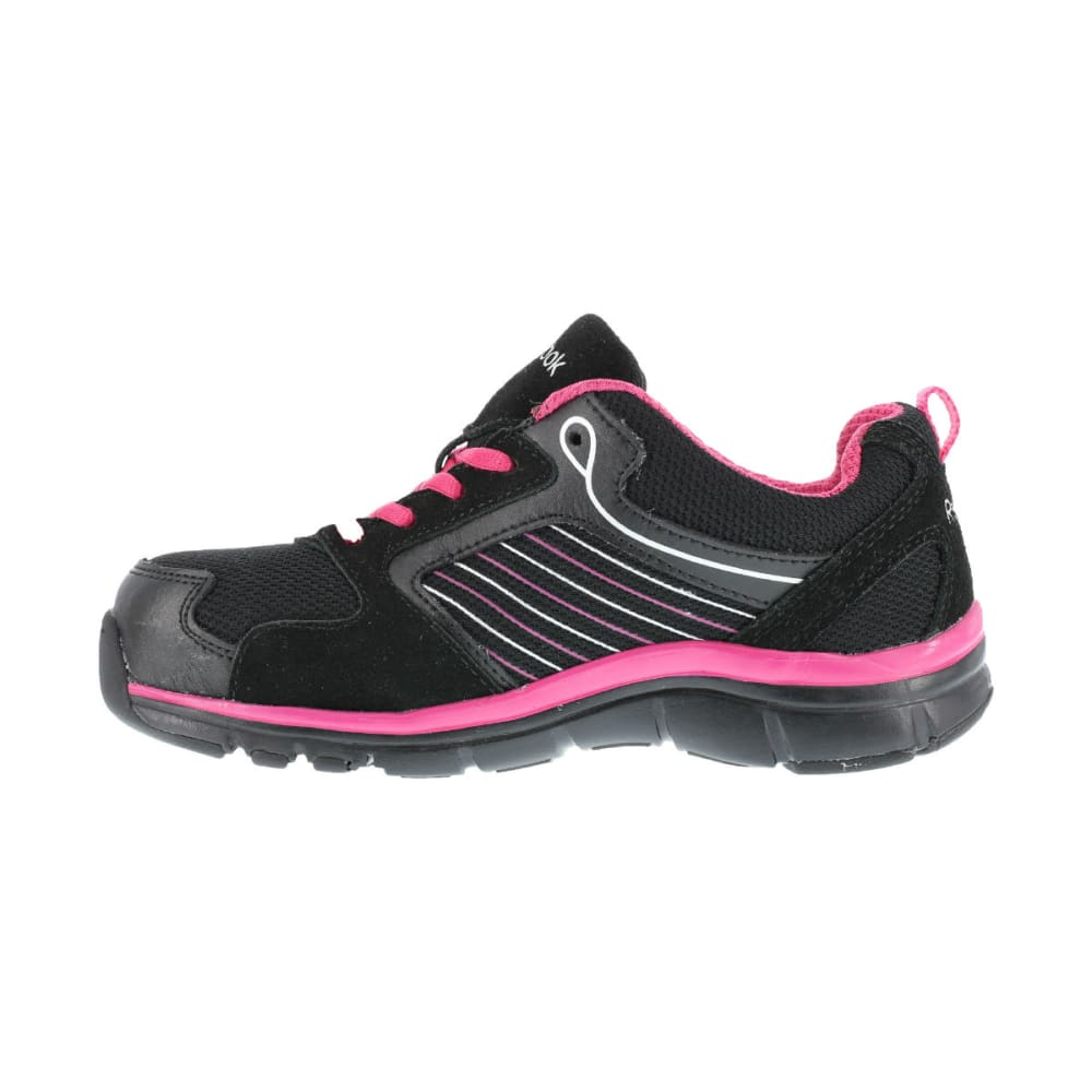 REEBOK WORK Women's Anomar Shoes - BLACK PINK W/SLV TRM