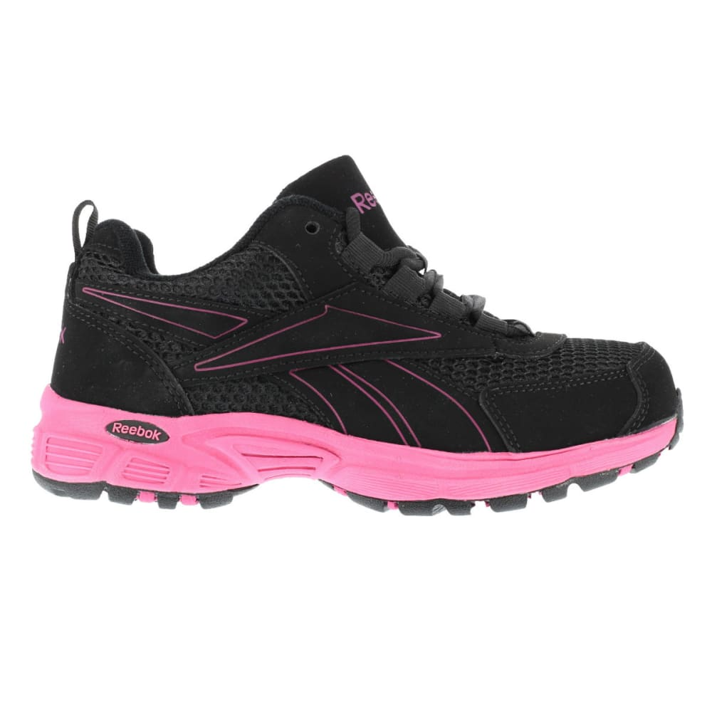REEBOK WORK Women's Ateron Shoes - BLACK W/PINK TRIM