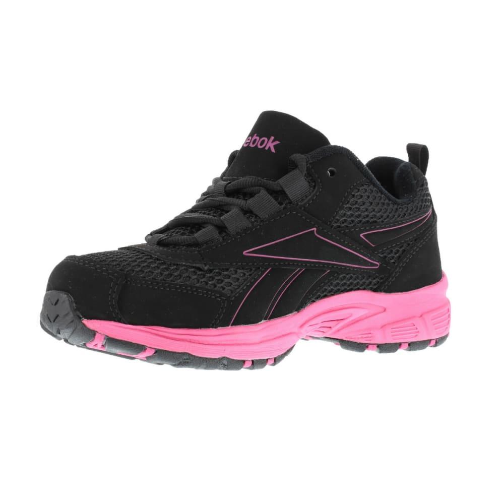 REEBOK WORK Women's Ateron Shoes, Wide - BLACK W/ PINK TRIM
