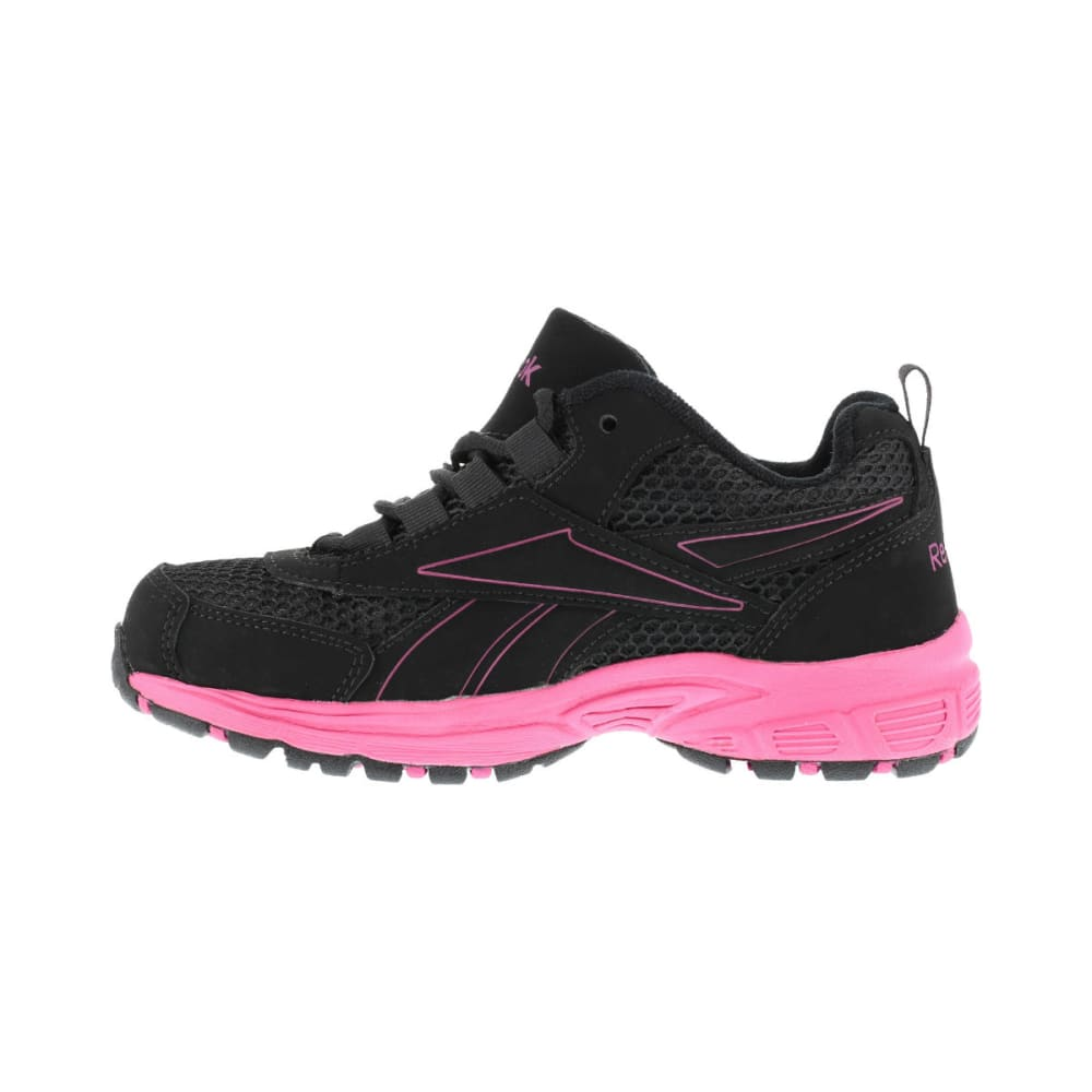 REEBOK WORK Women's Ateron Shoes, Wide - BLACK W/ PINK TRIM