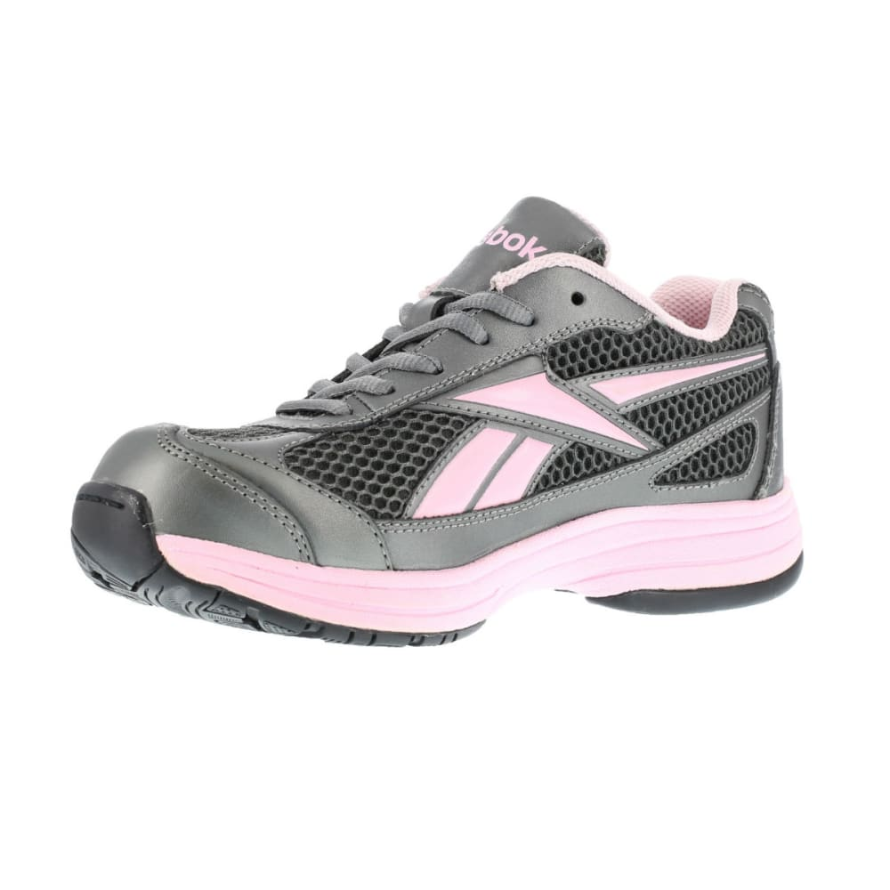 REEBOK WORK Women's Ketee Shoes, Wide - PEWTER W/ PINK TRIM