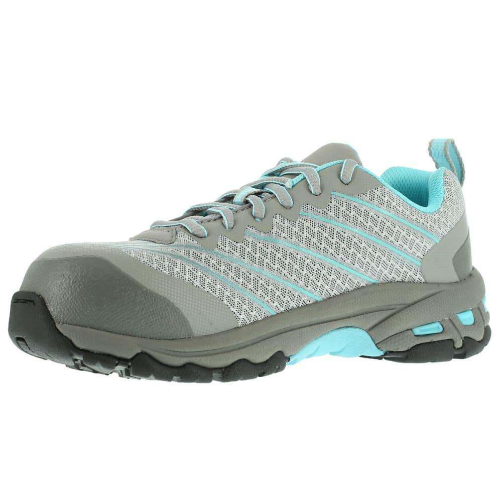 REEBOK WORK Women's Exline Shoes - LT GREYW/TEAL TRIM