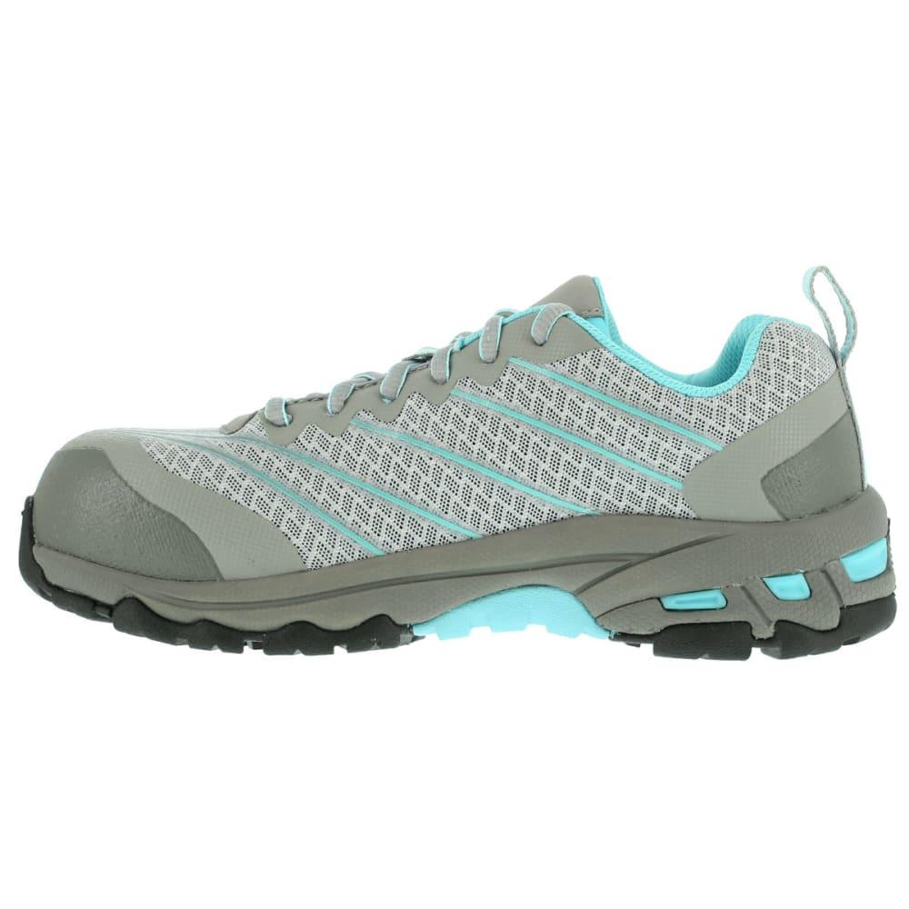 REEBOK WORK Women's Exline Shoes, Wide - LT GREY W/TEAL TRIM