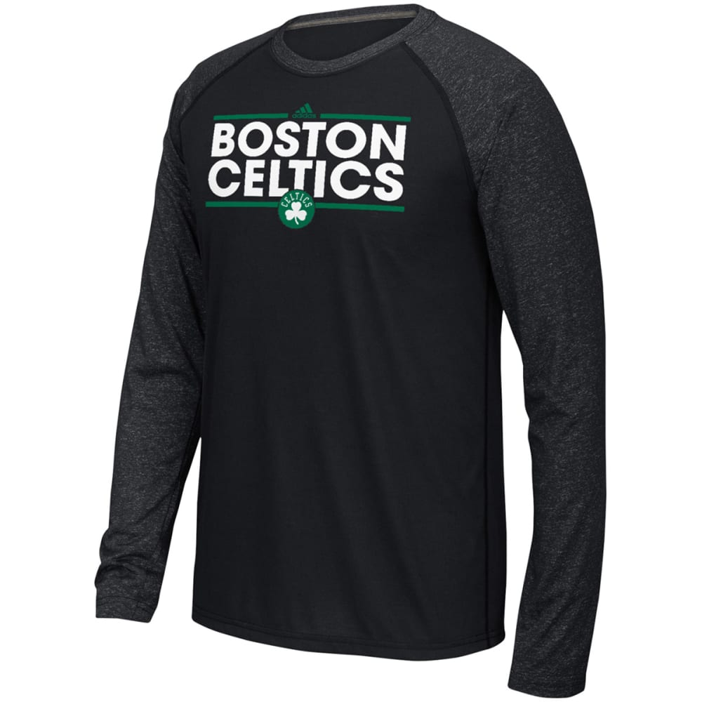 ADIDAS Men's Boston Celtics Dassler Long-Sleeve Raglan Tee - GREY