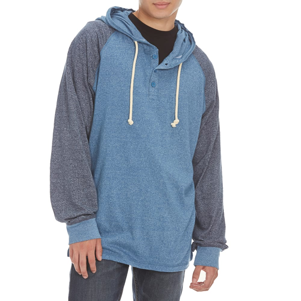 MASSIVE Guys' Raglan Marled Hoodie - VALLARTA BLUE/RELECT