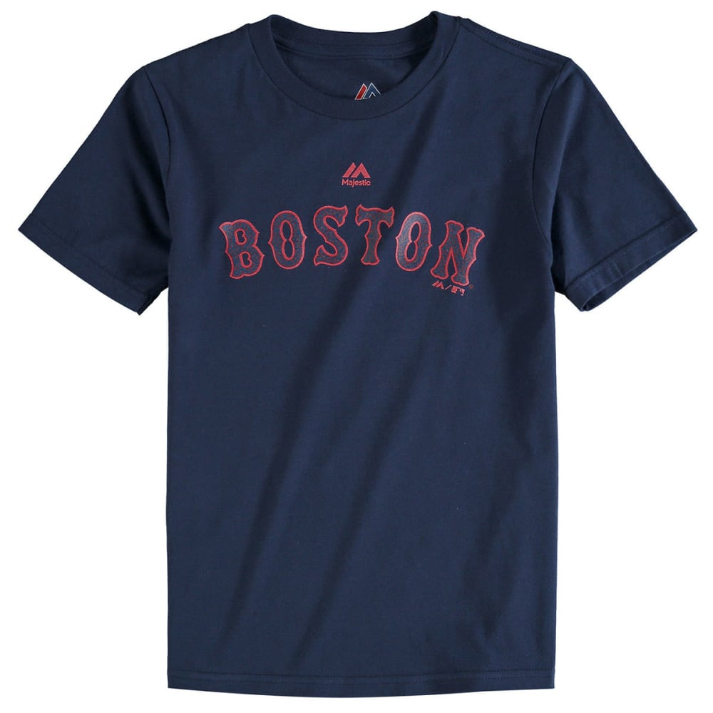 BOSTON RED SOX Boys' Ortiz Retirement Logo Short-Sleeve Tee - GREY