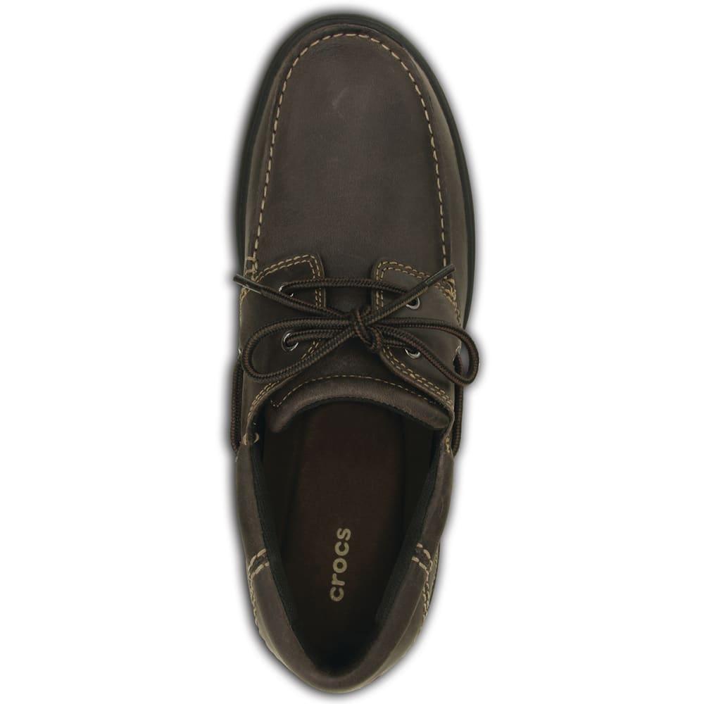 CROCS Men's Shaw Boat Shoes - ESPRESSO/BLACK