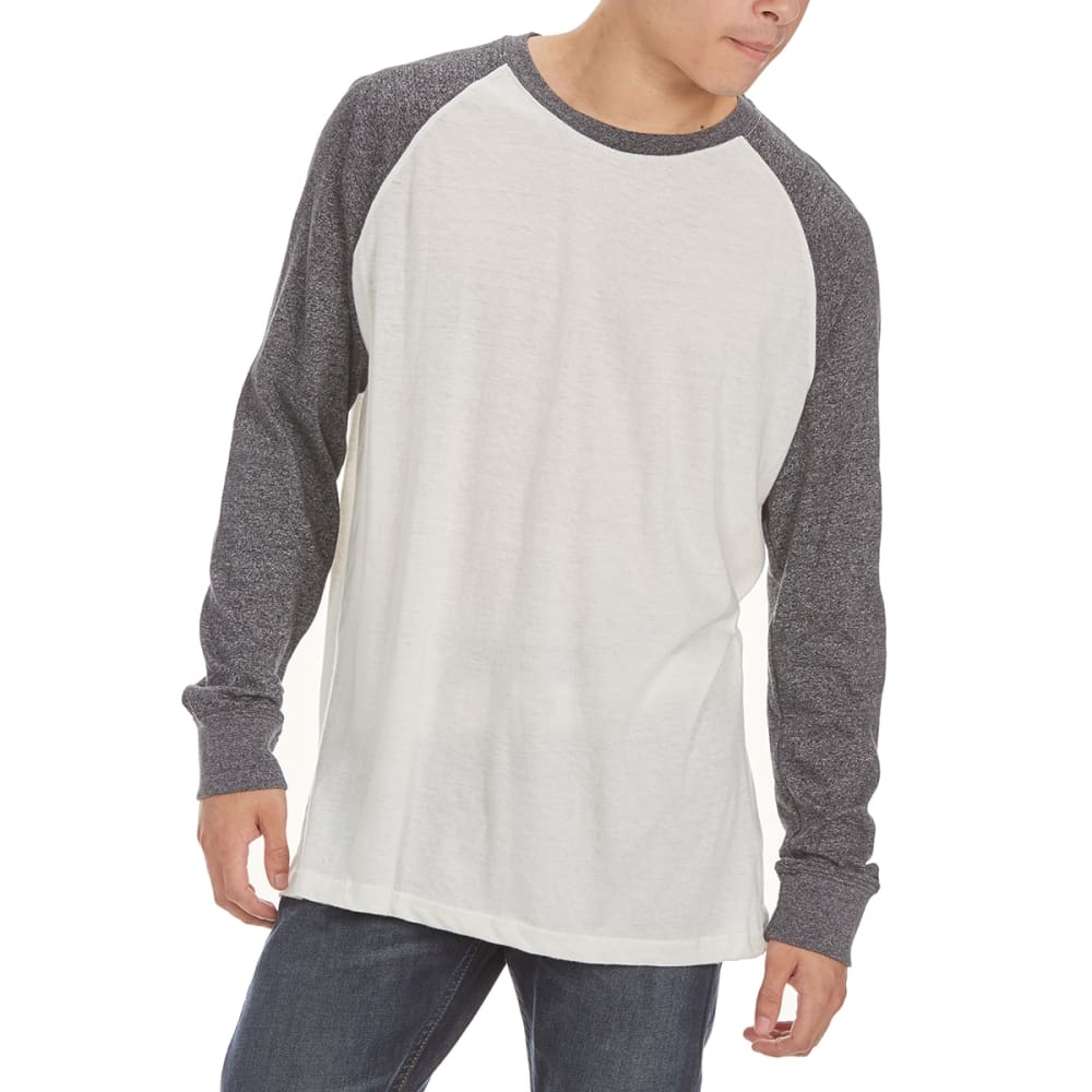 MASSIVE Guys' Raglan Marl Long-Sleeve Shirt - CHARCOAL/NATURAL