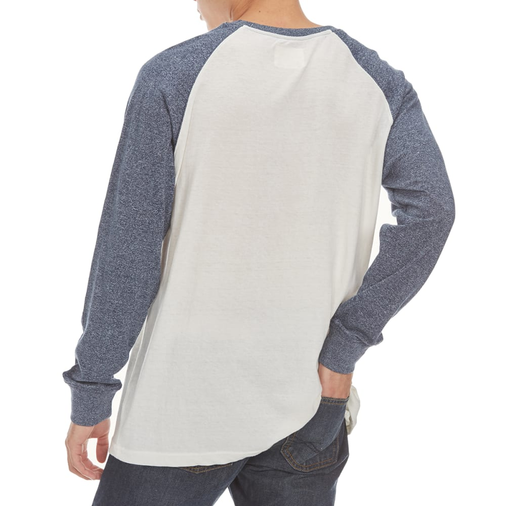 MASSIVE Guys' Raglan Marl Long-Sleeve Shirt - REFLECTING POND/NAT