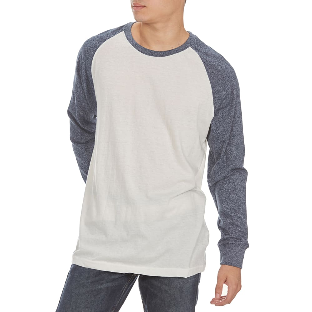MASSIVE Guys' Raglan Marl Long-Sleeve Shirt - REFLECTING POND/NAT