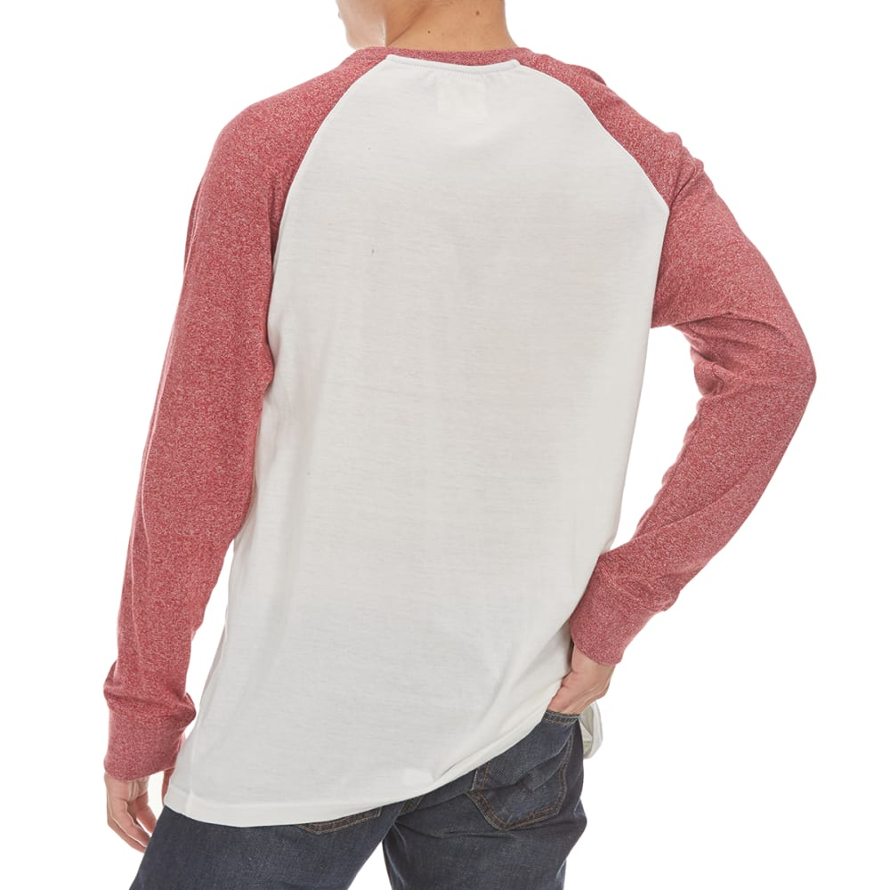 MASSIVE Guys' Raglan Marl Long-Sleeve Shirt - RED DAHLIA/NATURAL