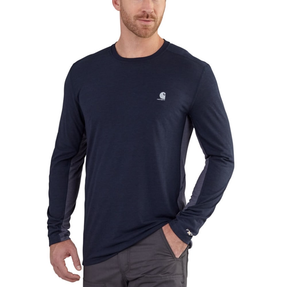Carhartt Men's Force Extremes Long-Sleeve Tee - Blue, M