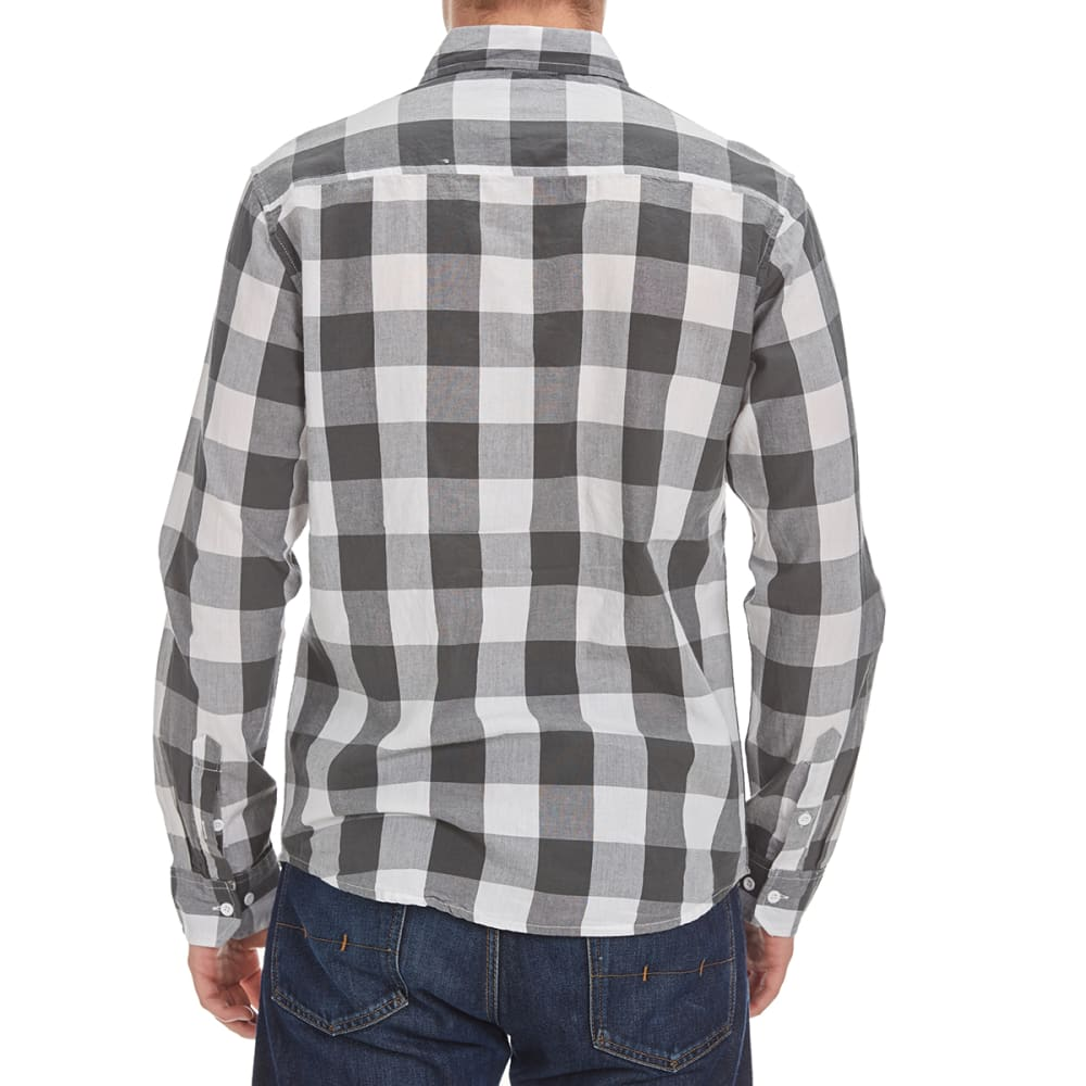COUNTER INTELLIGENCE Guys' Two-Color Buffalo Plaid Shirt - OFF WHITE/CHARCOAL