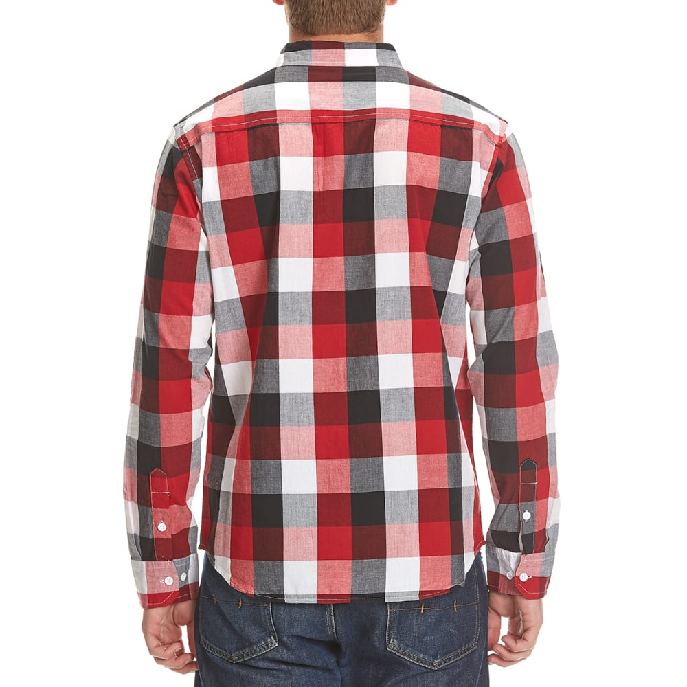 COUNTER INTELLIGENCE Guys' Tricolor Buffalo Plaid Shirt - HAUTERED/OFFWHT/BLK