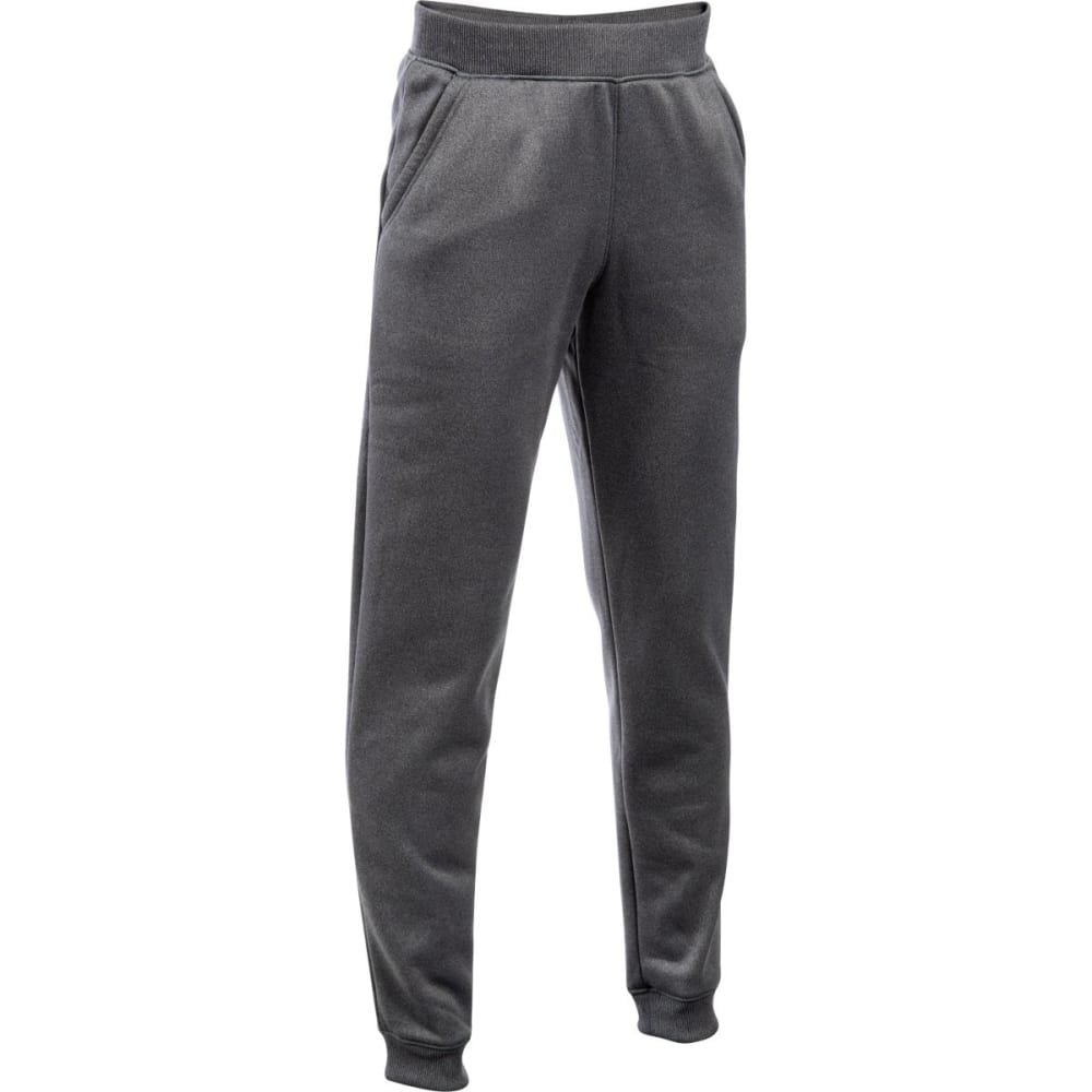 UNDER ARMOUR Boys' Storm Armour Fleece Jogger Pants - CARBON/BLK 090