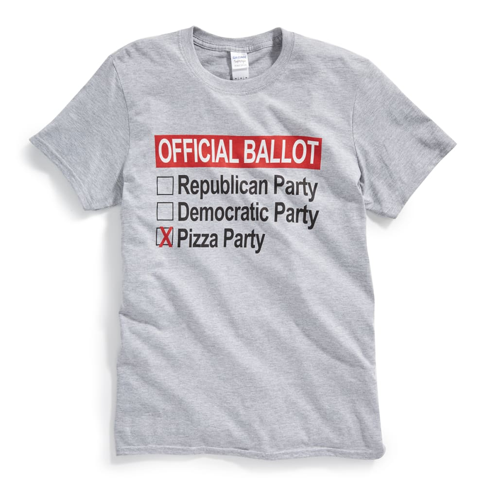 D55 Guys' Official Ballot: Pizza Party Tee - GREY