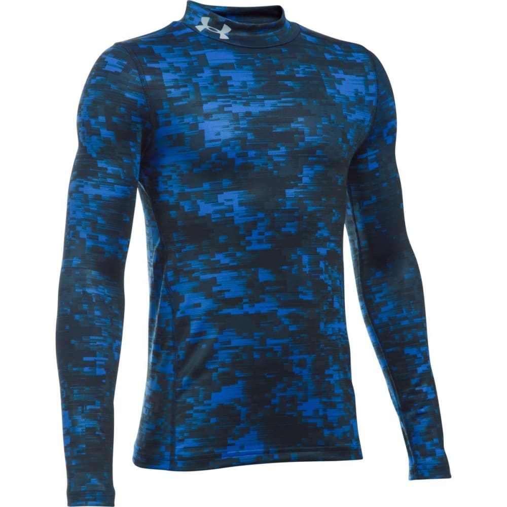 UNDER ARMOUR Boys' ColdGear Armour Up Printed Long-Sleeve Shirt - ULTRA BLU 907
