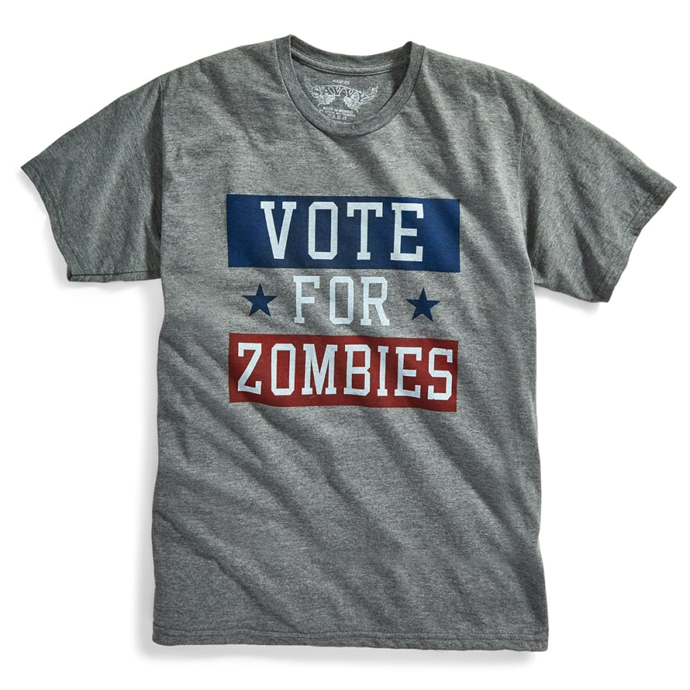 D55 Guys' Vote For Zombies Tee - GREY