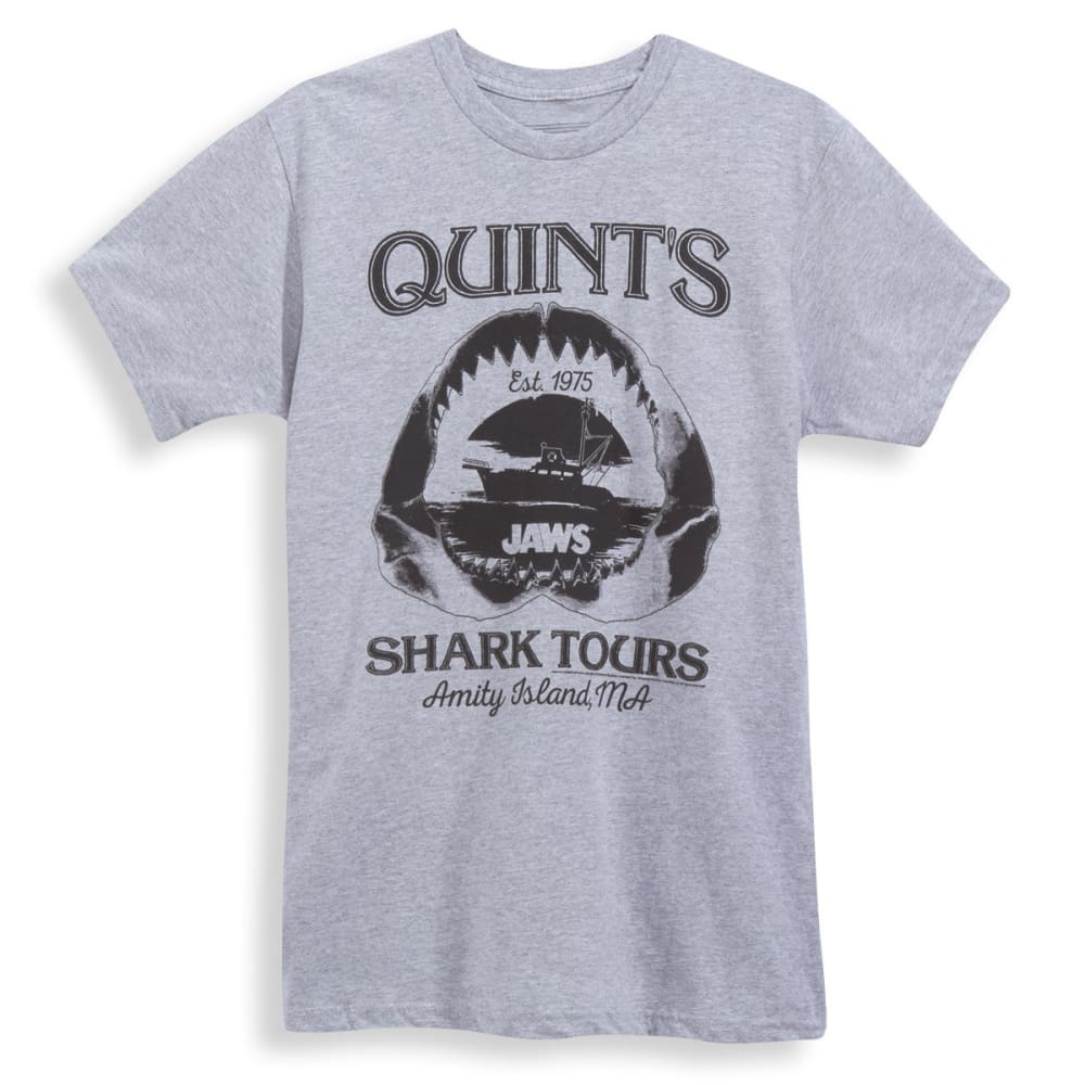 D55 Guys' Jaws Shark Tours Short-Sleeve Tee - HTR GRY
