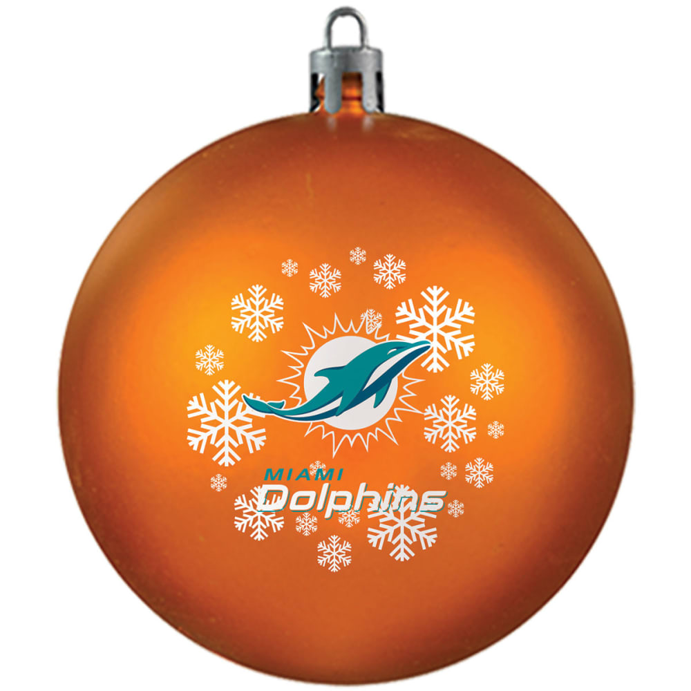 MIAMI DOLPHINS Shatterproof Ball Ornament - ORANGE