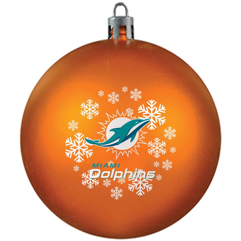 MIAMI DOLPHINS Shatterproof Ball Ornament - ORANGE