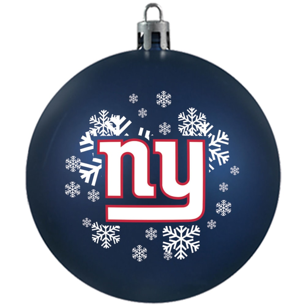 NEW YORK GIANTS Shatterproof Ball Ornament - ROYAL BLUE