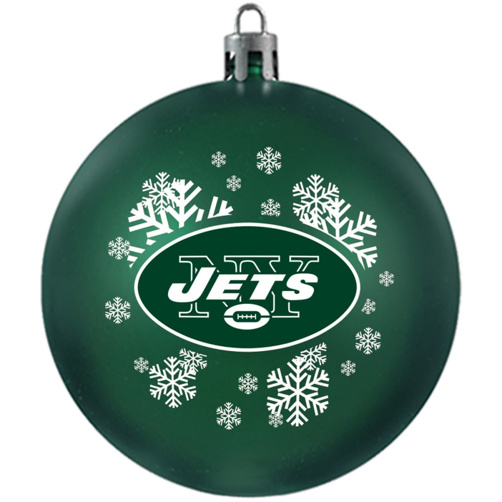 NEW YORK JETS Shatterproof Ball Ornament - GREEN