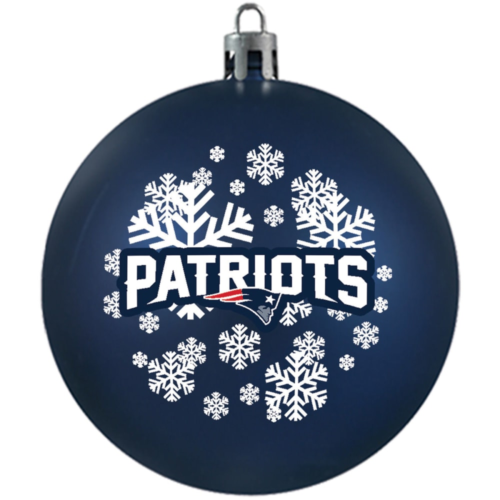 NEW ENGLAND PATRIOTS Shatterproof Ball Ornament - NAVY