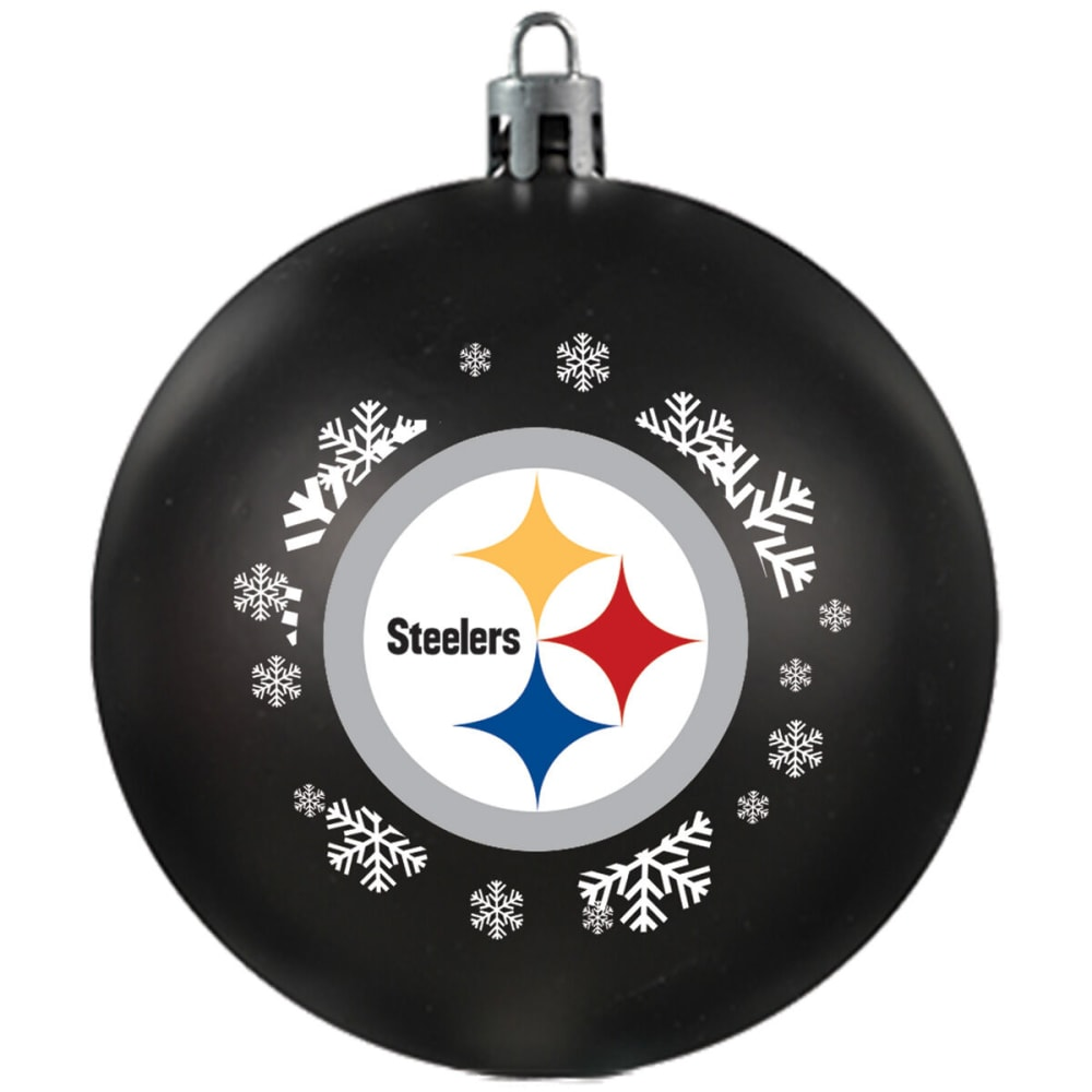 PITTSBURGH STEELERS Shatterproof Ball Ornament - BLACK