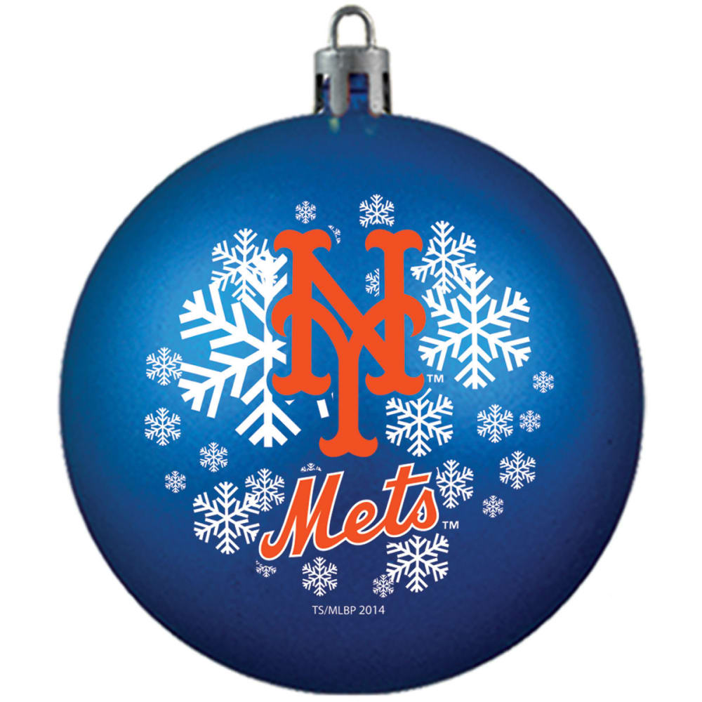 NEW YORK METS Shatterproof Ball Ornament - ROYAL BLUE
