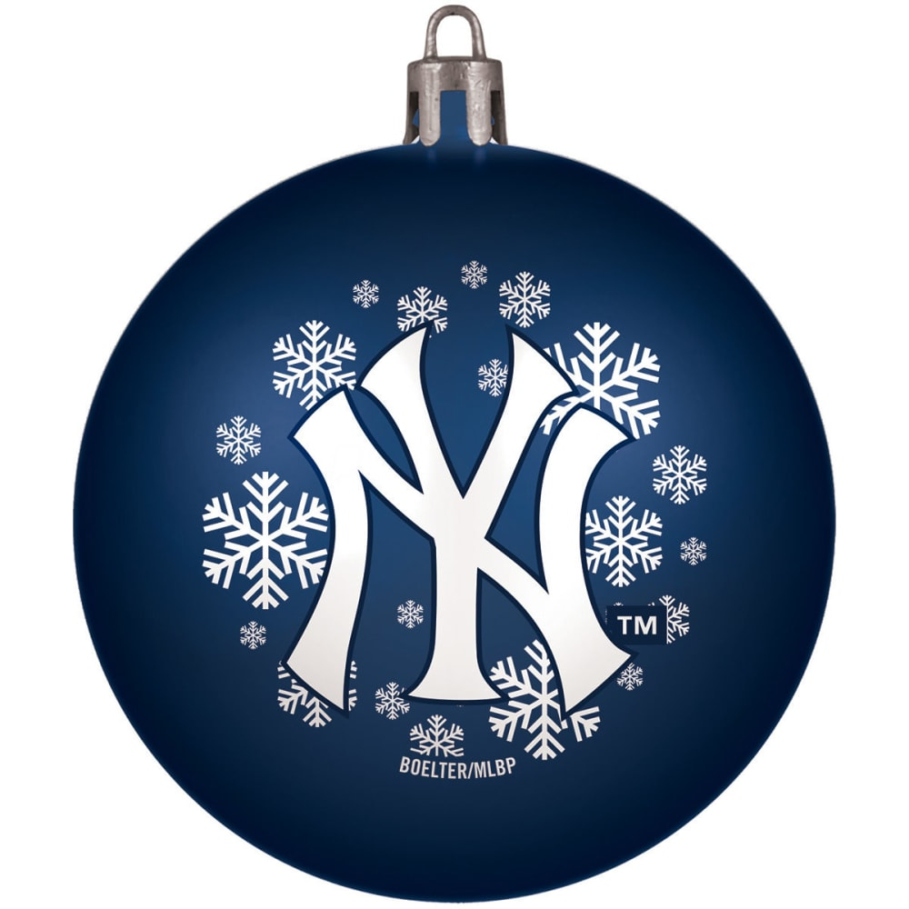 NEW YORK YANKEES Shatterproof Ball Ornament - NAVY