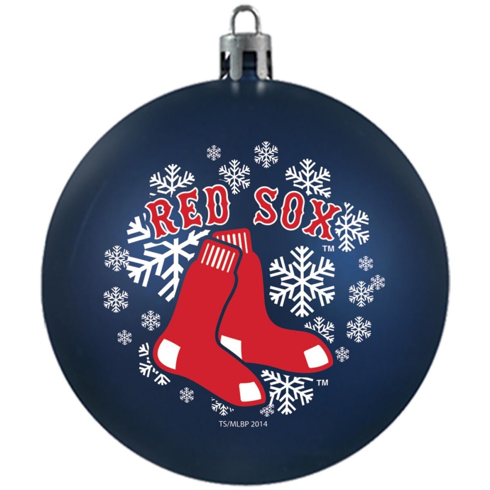 BOSTON RED SOX Shatterproof Ball Ornament - NAVY
