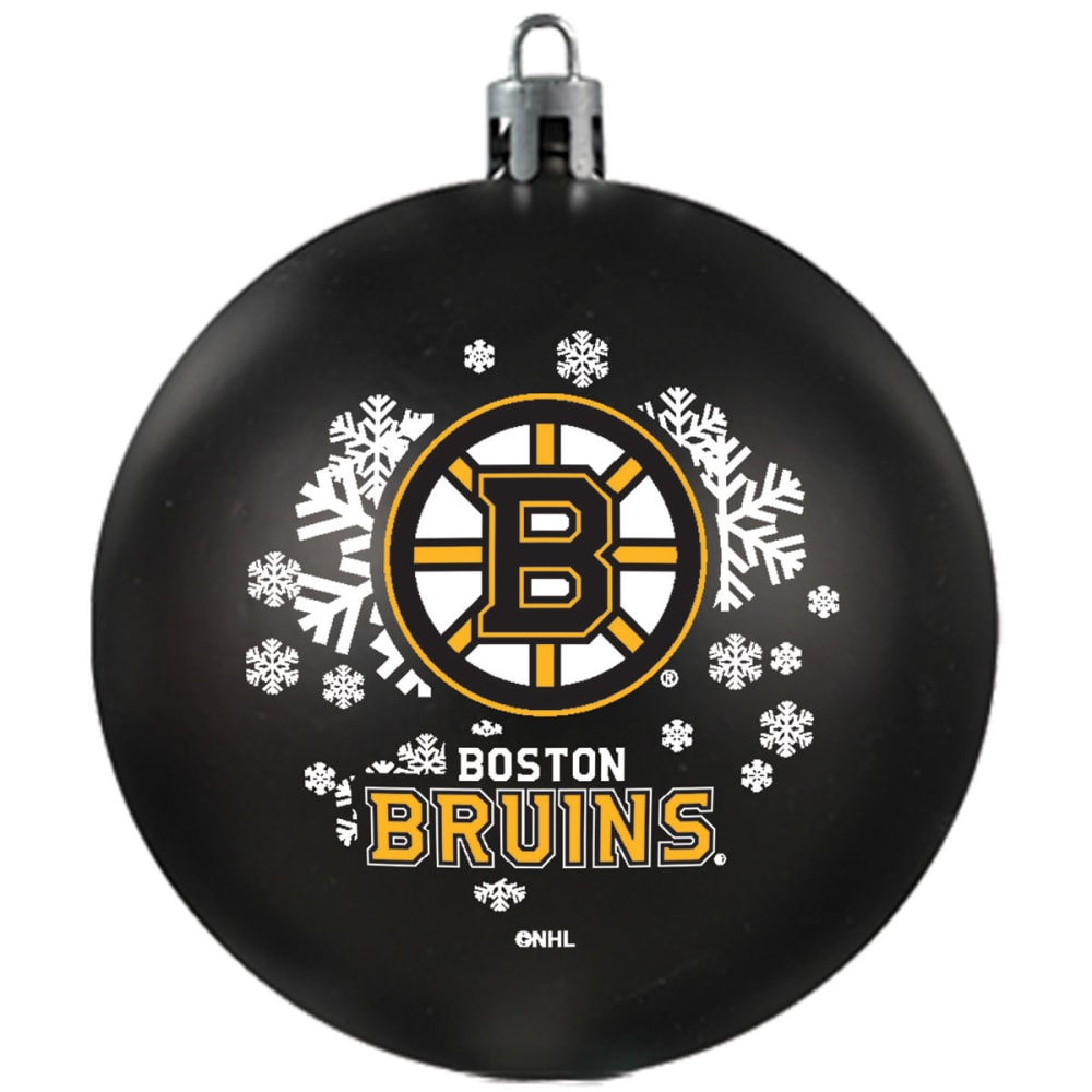 BOSTON BRUINS Shatterproof Ball Ornament - BLACK