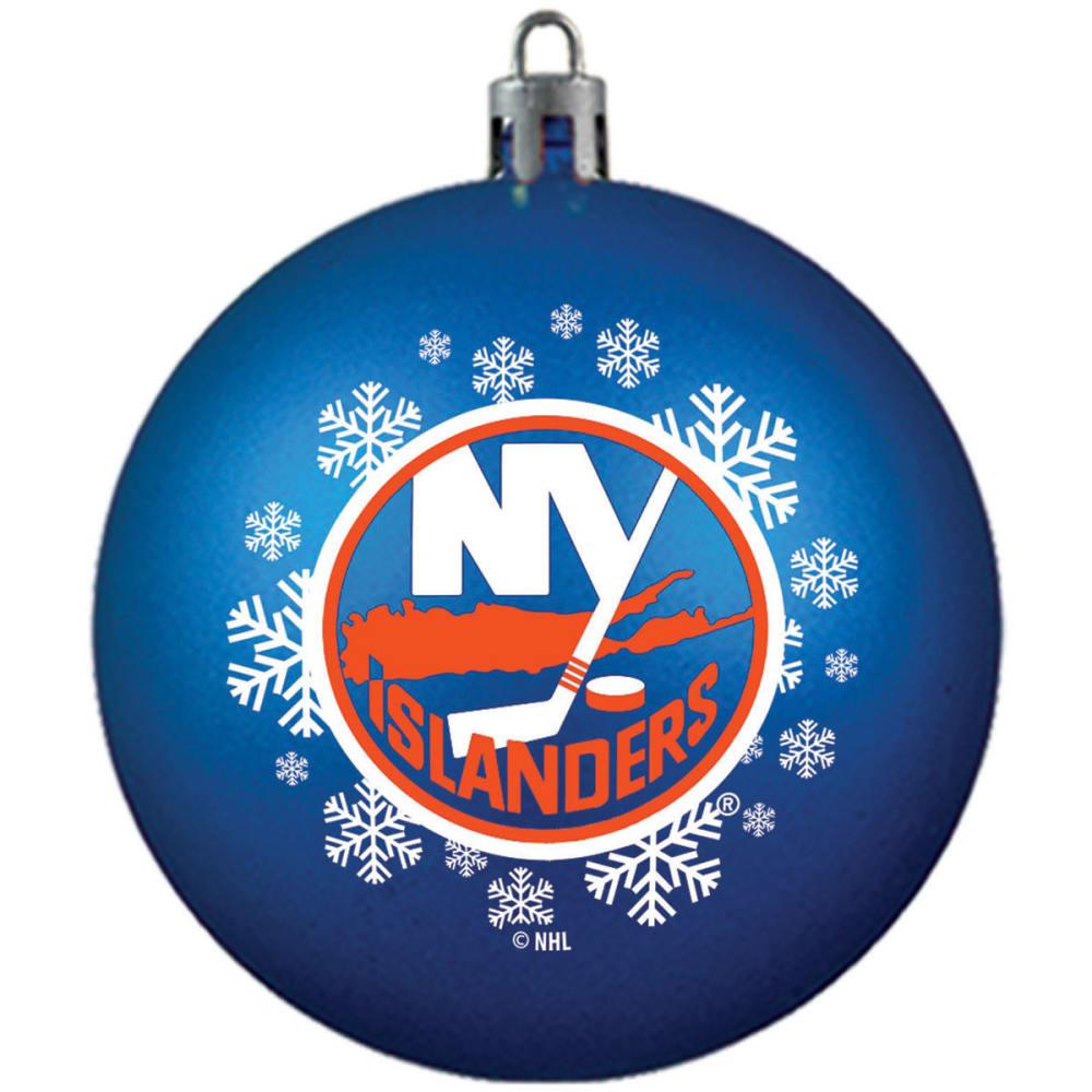 NEW YORK ISLANDERS Shatterproof Ball Ornament - ROYAL BLUE