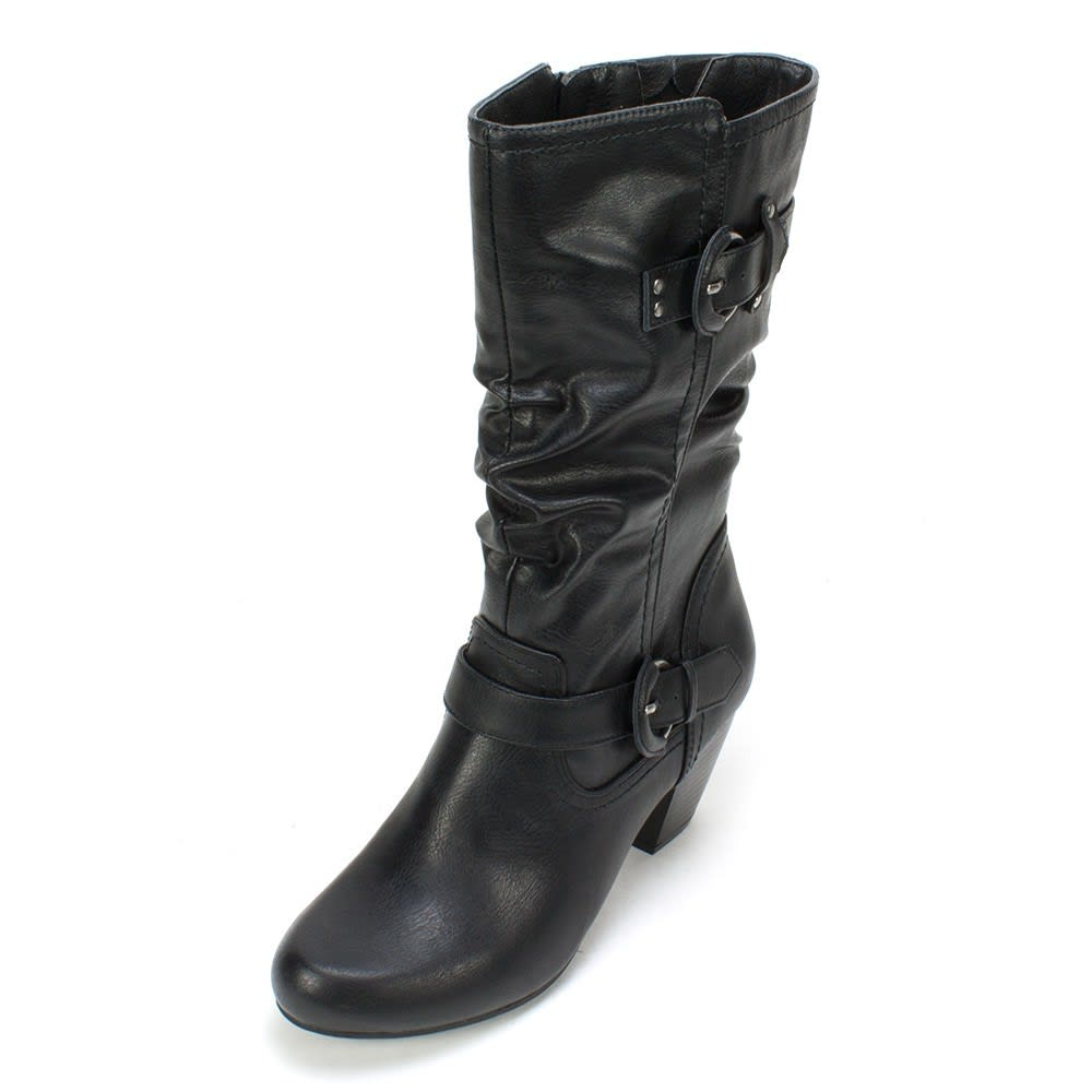 RIALTO Women's Coras Buckle Boots - BLACK